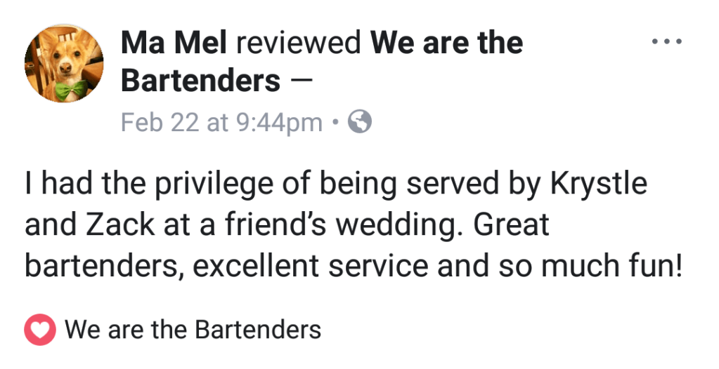 Review from Wedding Coordinator